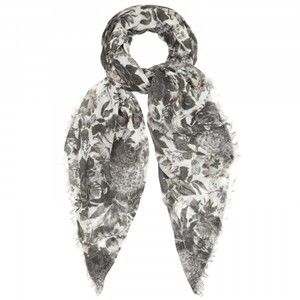 Cashmere and silk black-and-white floral scarf (a bit more white than this Stella McCarney version)