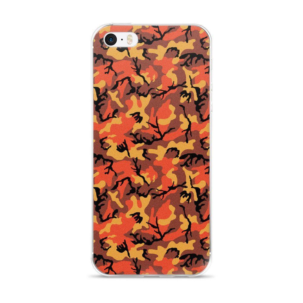 Savage Orange CAMO iPhone case