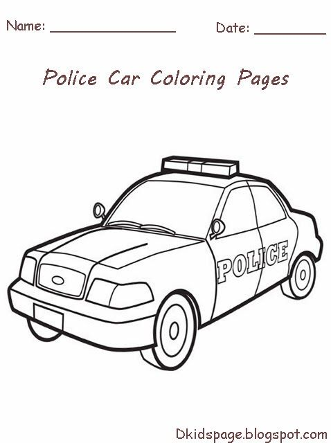 Police Officer Car Coloring Pages