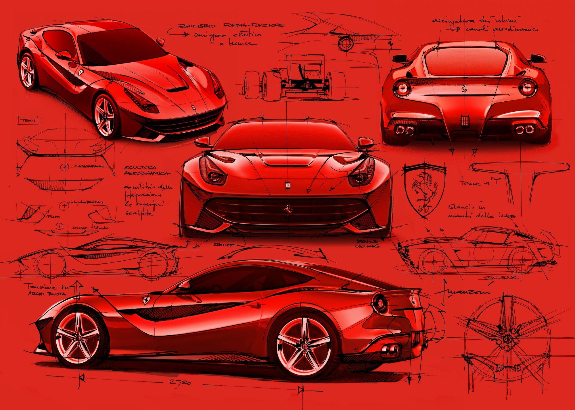 Ferrari Sergio by Pininfarina (2013) - Design Sketch | HD ... |Ferrari Design Sketches
