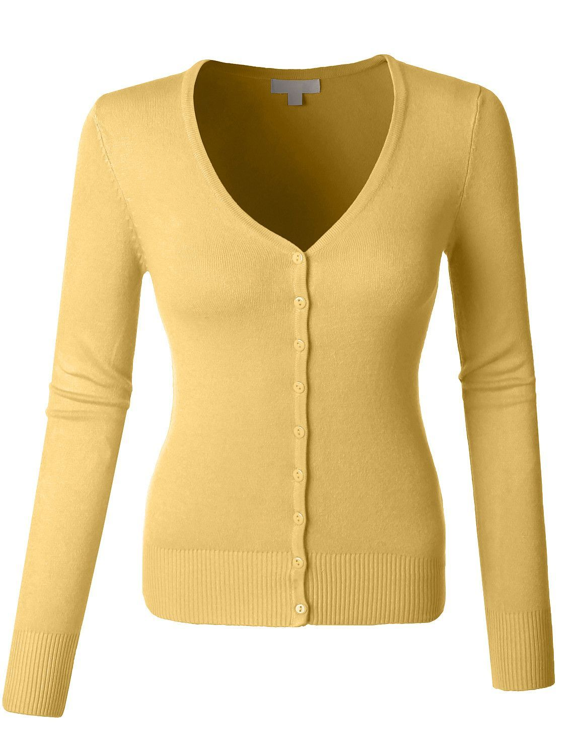 Womens Soft Fitted Basic Cardigan Sweater | Stylish outfits and ...