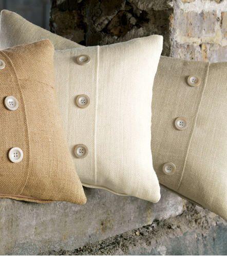 burlap decorative pillows and bedding
