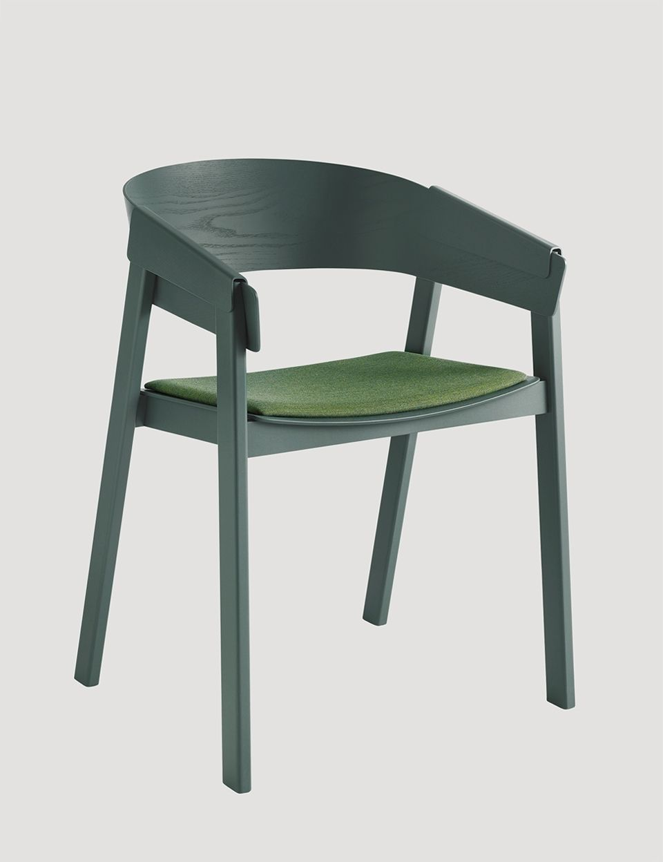 COVER Chair Upholstery In Green / Remix 933, Designed By Thomas Bentzen  #muuto #