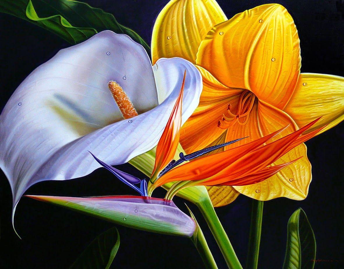 Творчество Ellery Gutierrez Flower painting, Flower art