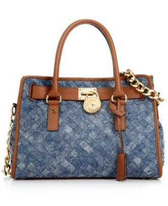Our current denim obsession! MICHAEL by Michael Kors Handbag