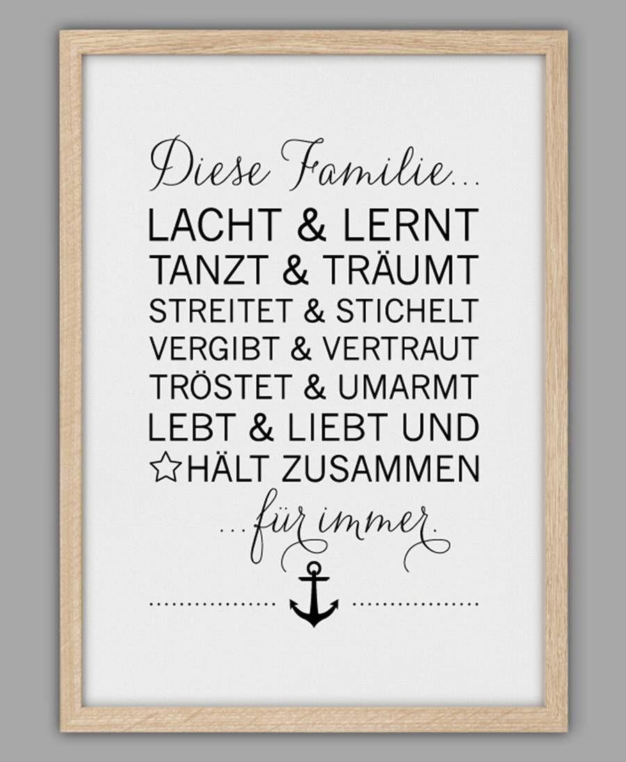 Smart Art ☆ Kunstdruck Für immer   Gedichte und sprüche, Sprüche ...