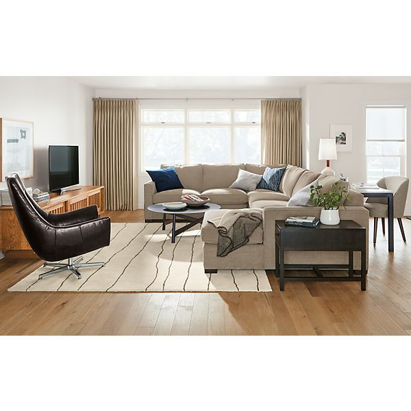 Morrison Sectional with Chaise Room Modern Living Room Furniture