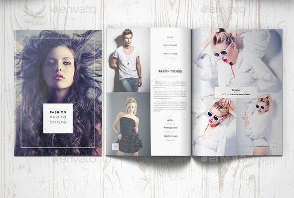 Beautiful Indesign Fashion Brochure Templates  Brochures