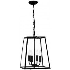 Black Iron Tapered 4 Lamp Hanging Ceiling Lantern Hall Light