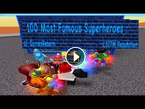 Becoming A Superhero In Roblox - Becoming The 1 Top Most Famous Superhero Super Power