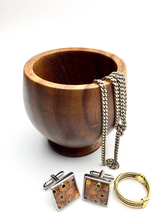 Rosewood Vase Jewelry Keeper Colored Pencil Vase Ring Holder