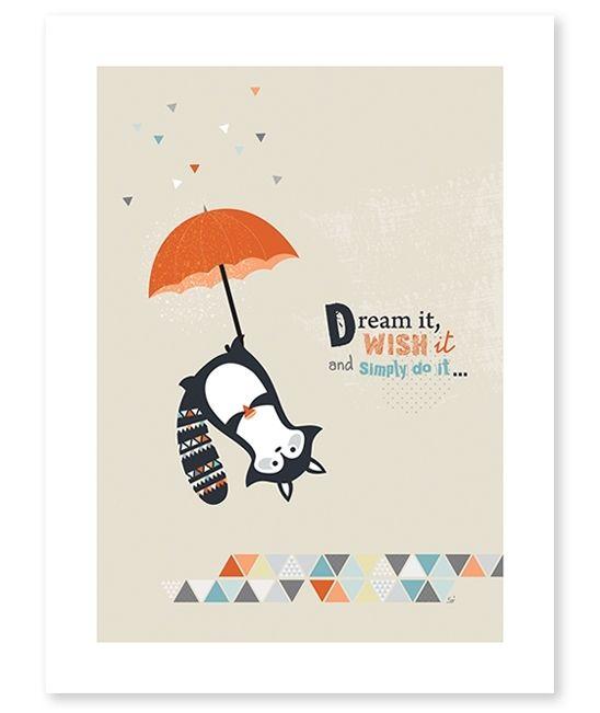 Poster Kinderkamer Lilipinso: Think Positive 30 X 40 Cm
