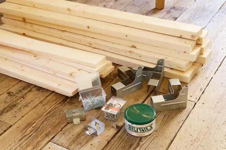 シンプソン金具と2 4材 ツーバイフォー材 で棚を自作diy Diy 棚