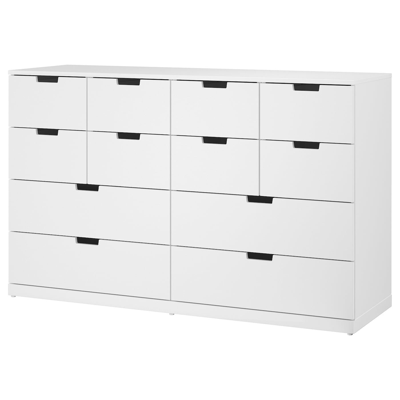 Nordli 12 Drawer Chest White 63x39 Chest Of Drawers Painted