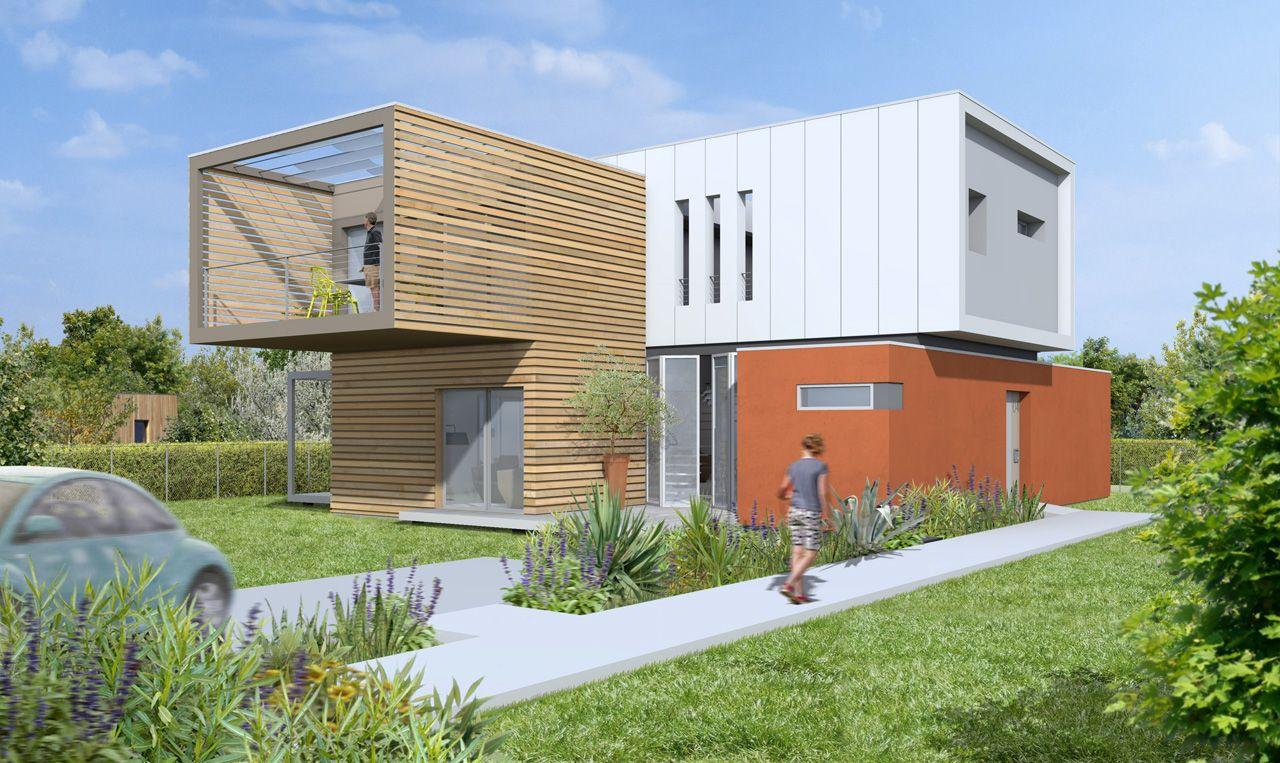Lhenry architecture maisons individuelles 18 maison module for Maison container constructeur