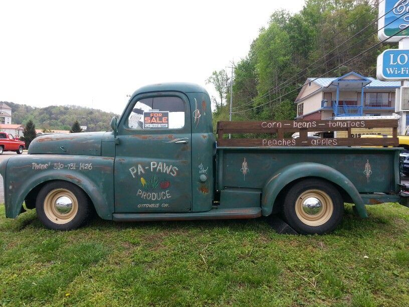Old B Series Dodge With A Retro Paint Job Buy It And Get Parts At Oldpickupparts Com Vintage Pickup Trucks Old Dodge Trucks Dodge Pickup Trucks