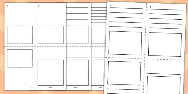 Mini Book Template (Blank) - mini book, booklet, template - blank brochure templates