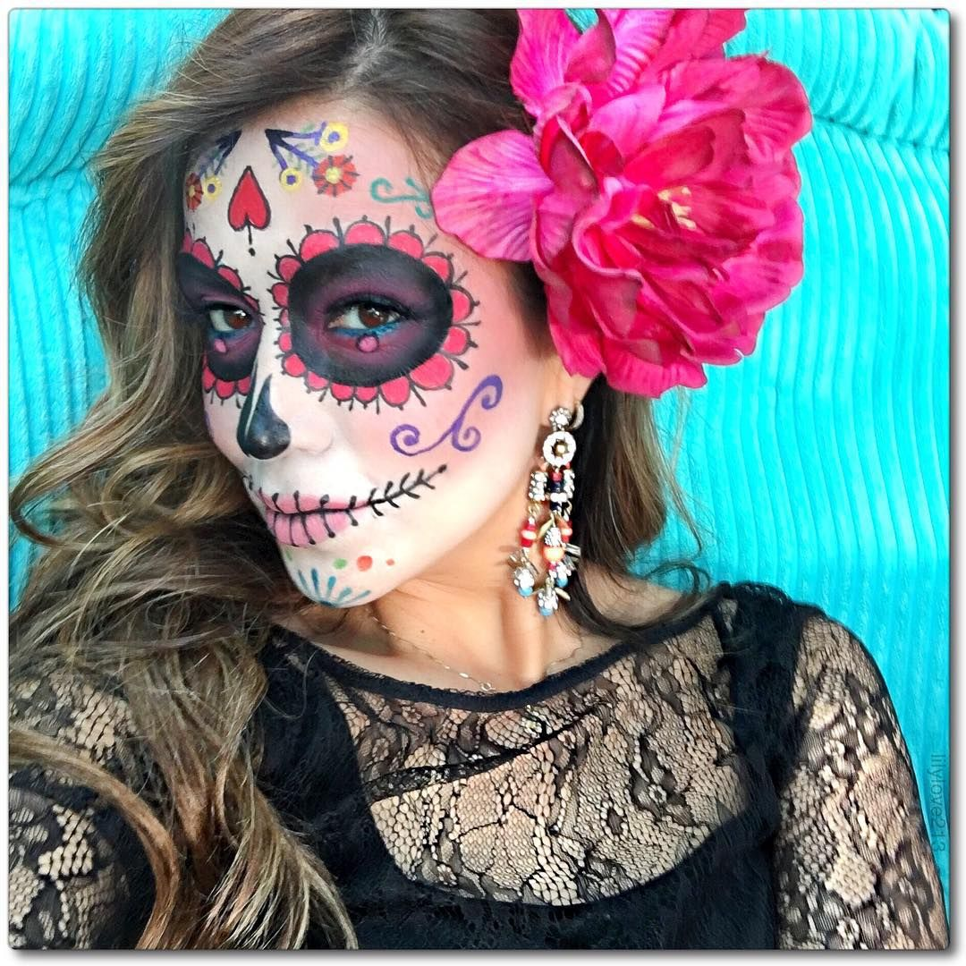 Dia de los muertos dayofthedead diadelosmuertos diadelosmuertosmakeup halloween - Maquillage dia de los muertos ...