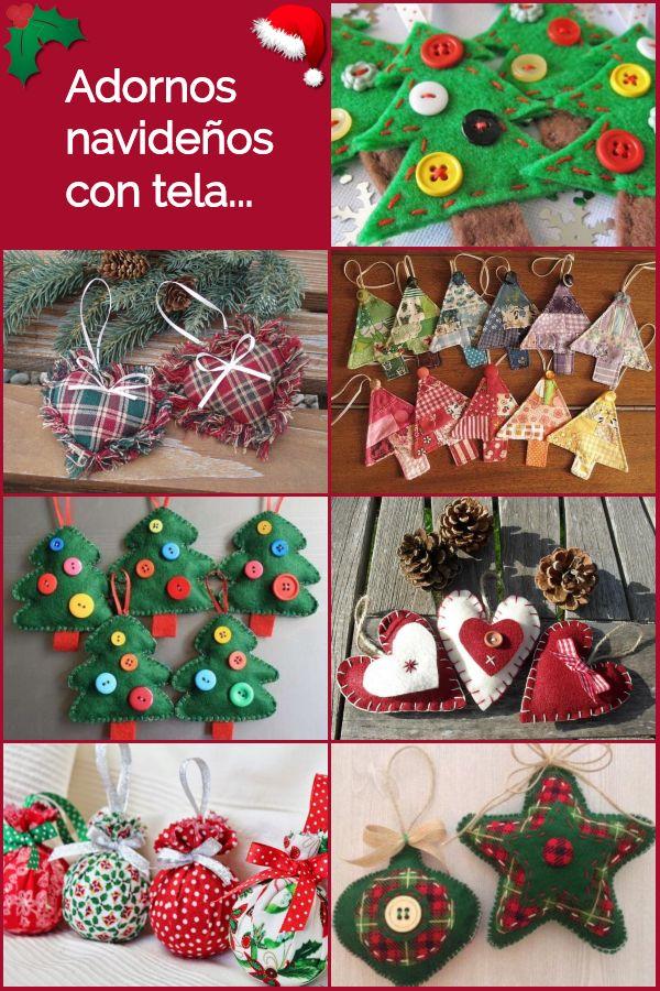 Decoraci n navide a con tela ideas para hacer adornos - Decoraciones navidenas manualidades ...