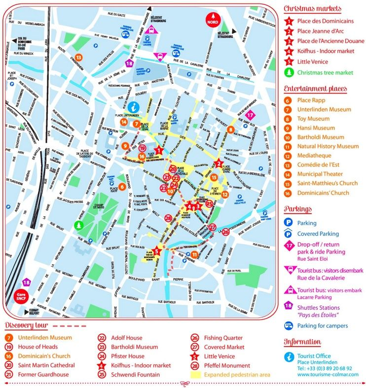 Colmar city center map Maps Pinterest City Alsace and France