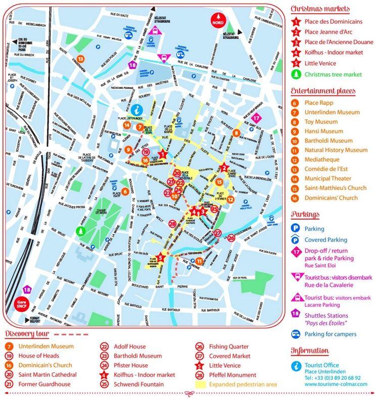 Colmar city center map Maps Pinterest City Alsace and France