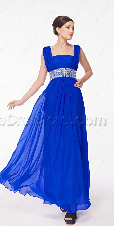 Square neck royal blue mother of the bride dresses pinterest