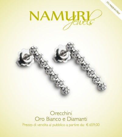 https://itcportale.it/?p=4590  Orecchini Namuri Jewels: Oro Bianco e Diamante Scopri lo STORE PARTNER piu' vicino a te su ItcPortale.it #itcportale #jewelry #diamond #lifestyle #musthave #wedding #engagement #madeinitaly #diamanti #orobianco #gioielli
