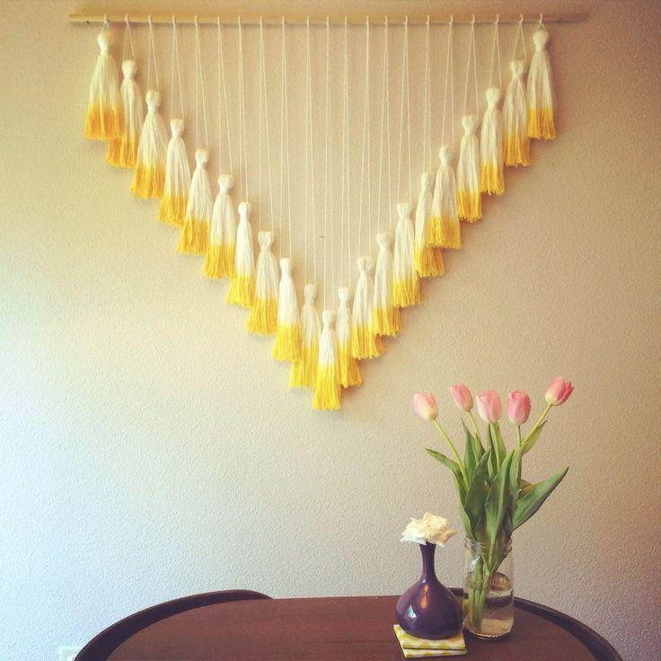 Tassel Wall Hanging // Mega Yellow | Great Crafts and DIYs ...
