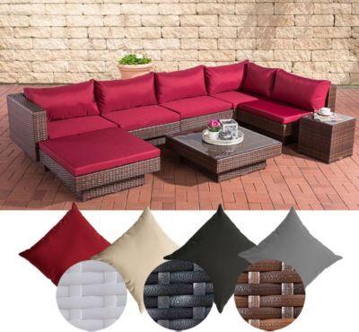 Poly-Rattan Gartenmöbel Lounge-Set TUNIS, 6 Sitzplätze, Lounge Sofa - gartenmobel kunststoff design