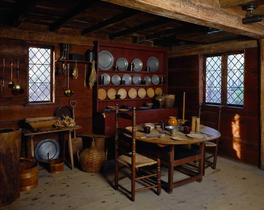 John Ward House Interior 18th Century Kitchen