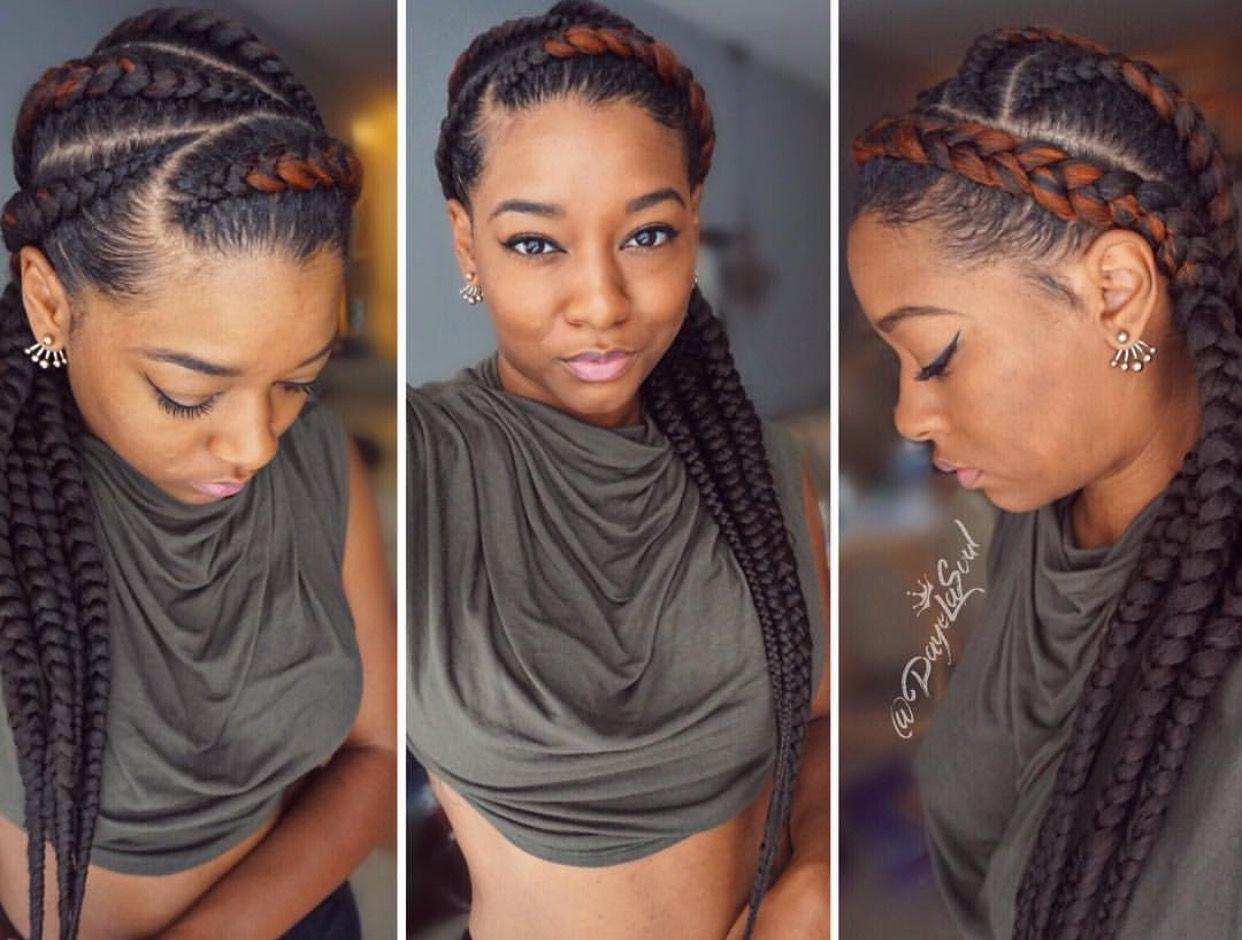 Jumbo cornrows braided look in pinterest hair styles