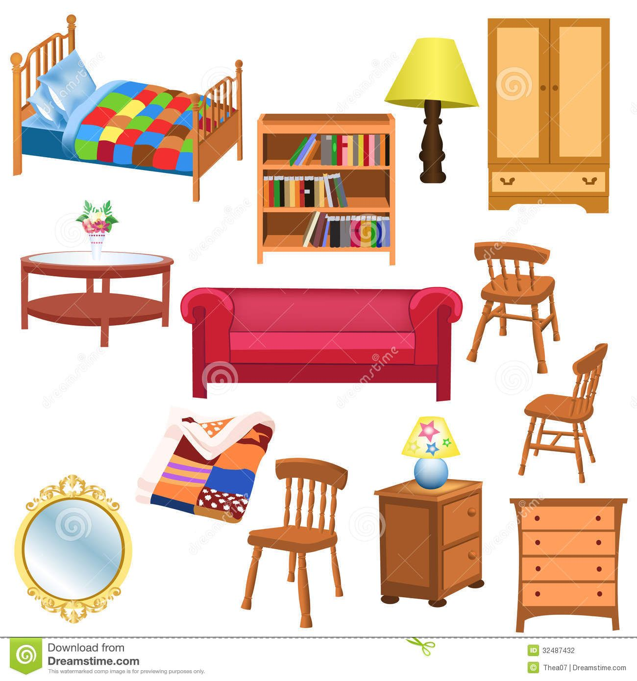 Living Room Furniture Clipart