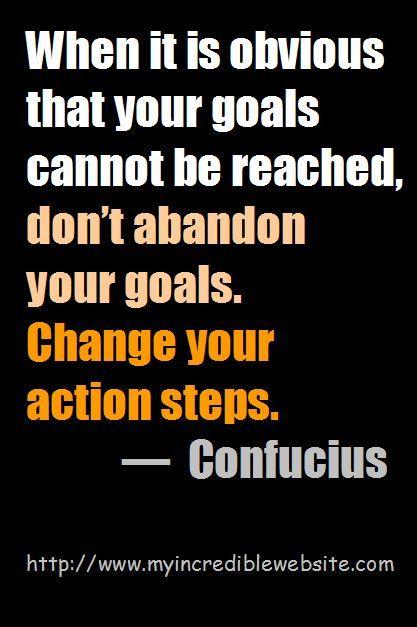 Confucius: On Obtaining Goals