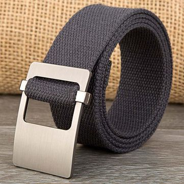 140CM Unisex Men Women Military Solid Belt Adjustable Buckle Weave Canvas Waistband Pants Strip at Banggood
