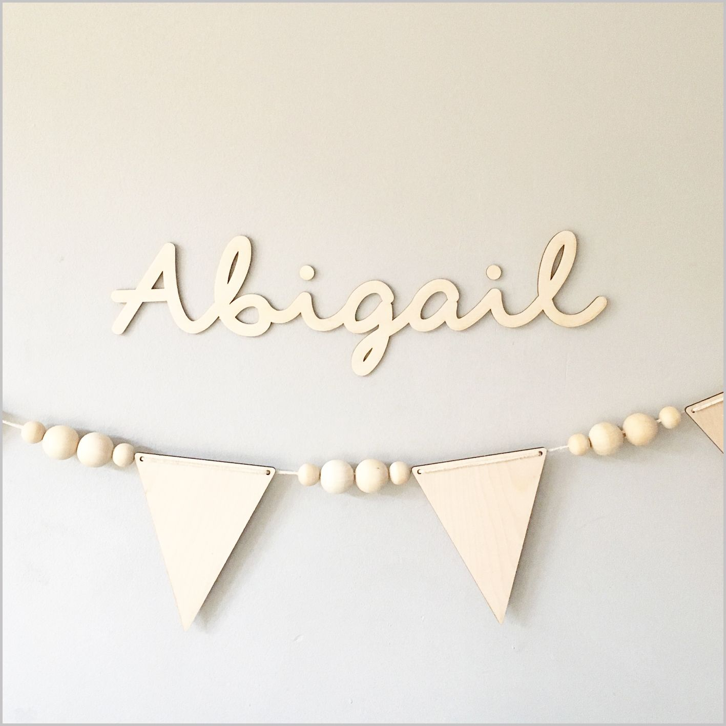 Custom Birch Plywood Name Sign  Plywood Buntings And Birch