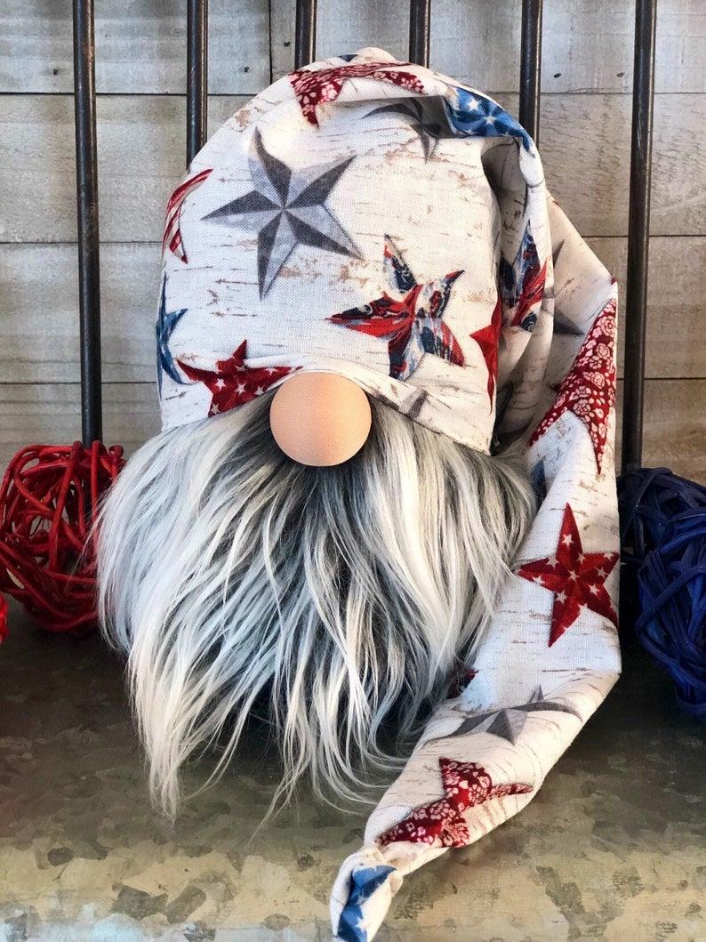 Fourth of July gnome, patriotic gnome, gnome, gnomes, tiered tray decor, Indepen...,  #Decor #Fourth #Gnome #Gnomes #holidaydecorationsfourthofjuly #Indepen #July #Patriotic #tiered #tray