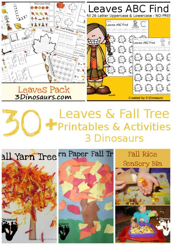 30+ Leaves & Fall Tree Printables & Activities: math, themed packs ...