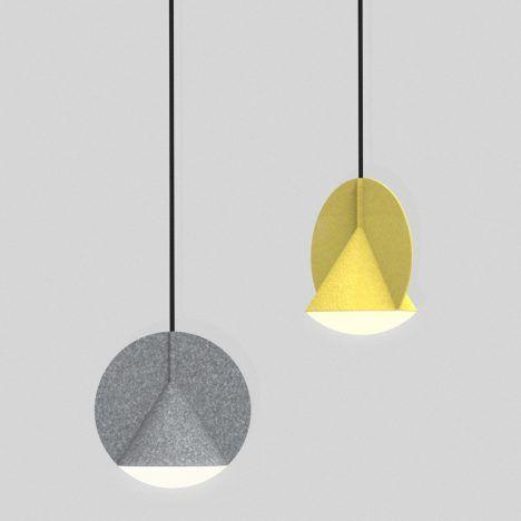 Outofstock designs geometric felt lamps for Bolia Pendant lamps