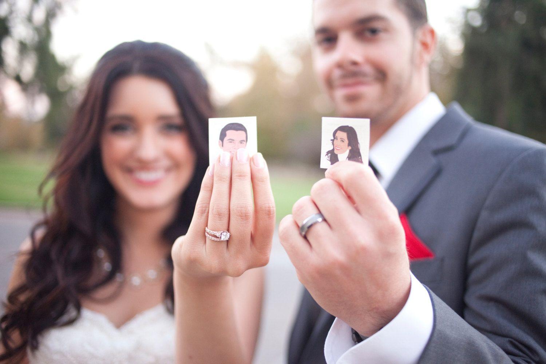 Temporary Tattoo - Custom Portrait Cartoon Bride and Groom Wedding ...