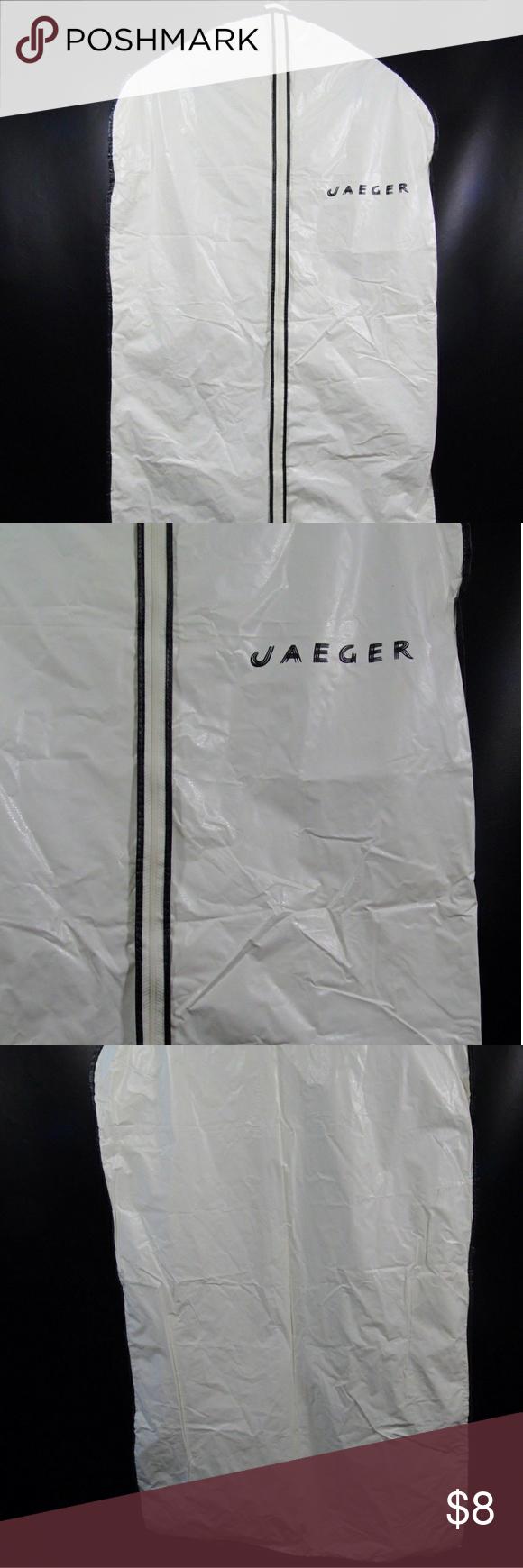 Travel Protect Jaeger Vintage Vinyl Garment Bag White