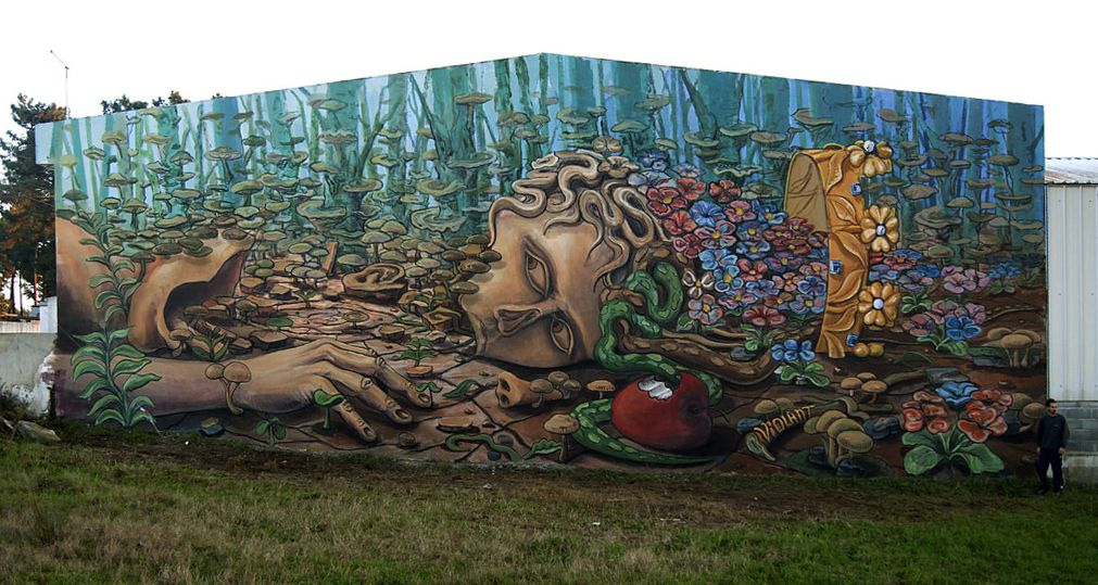 "Violant - Portouguese Street Artist - ""The fall of Adam"" - 01/2015 -  \*/  #violant #streetart"