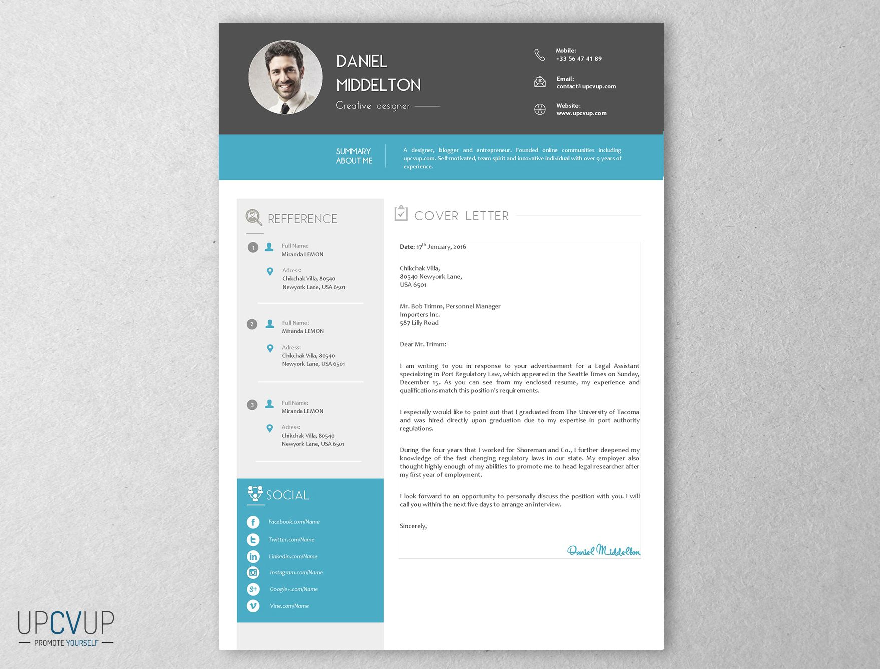 lettre de motivation cv assistant e  en communication bleu