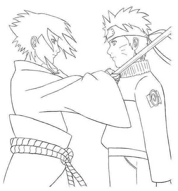 Naruto Sasuke Coloring Pages Desenhos Desenhos Top Para