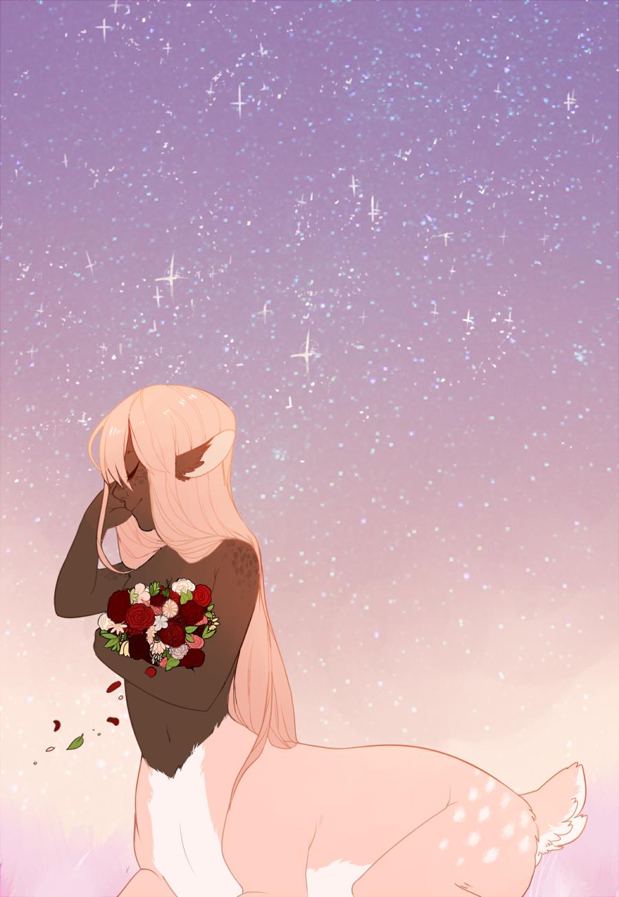 flowers at sunset by crwns.deviantart.com on @deviantART