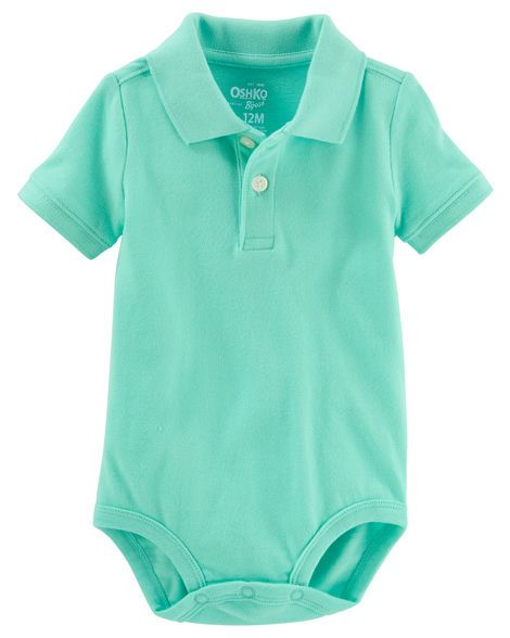 Baby Boy Piqué Polo Bodysuit from Carters.com. Shop clothing & accessories from a trusted name in kids, toddlers, and baby clothes.
