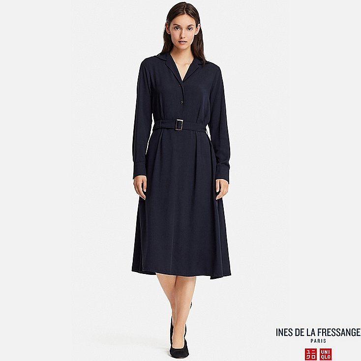 0974166ce2 Women rayon long-sleeve dress (ines de la fressange)
