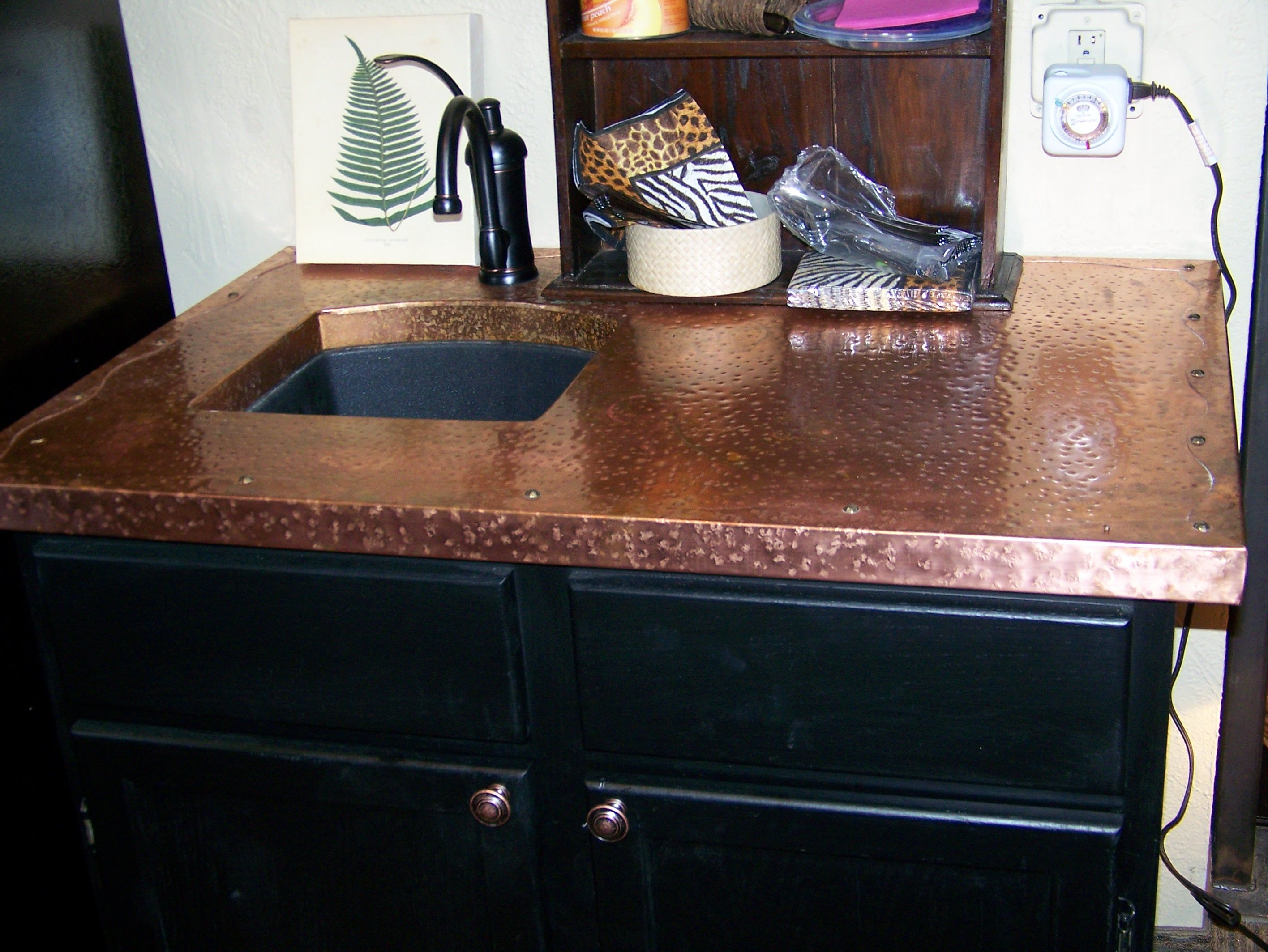 add with copper countertop india your copperbrown blog warmth paramount to brown granite some kitchen worth