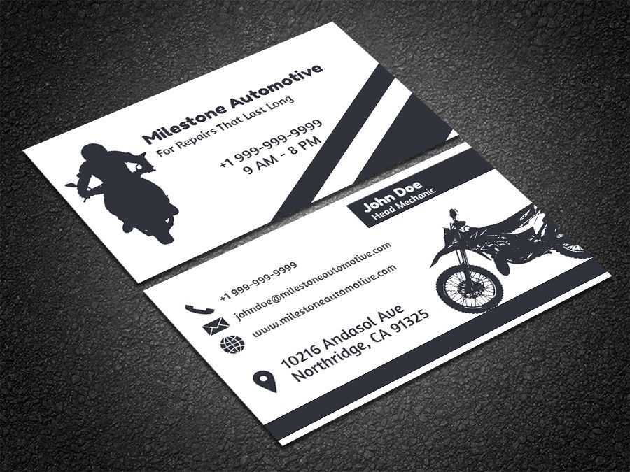 Image result for business card for motorcycle repair shop