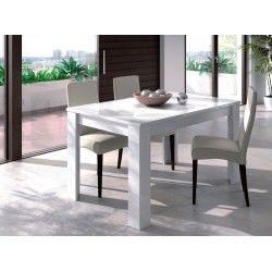 Mesa comedor blanco - kendra 90x140x190 | Comedores y Sillas ...