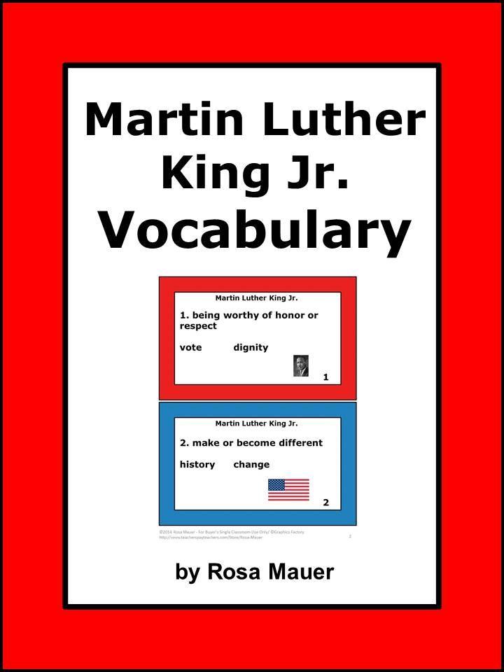 Encantador Vocabulario Jr Cuestionario Hoja Respuestas Martin Luther ...